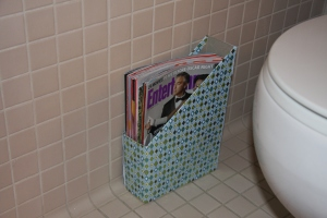 DIY Magazine holder-After
