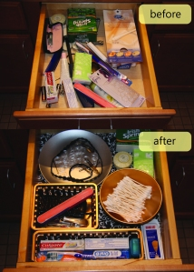 my before and after bathroom drawers