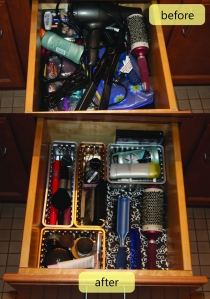 my before & after bathroom drawer #2