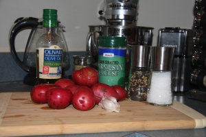 Ingredients for Parm. Red Potatoes