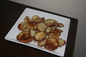 Finished Parmesan Red Potatoes