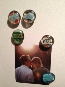 glass mod podge magnets