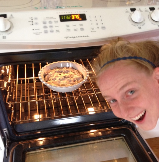 Sarah and the blueberry breakfast pie