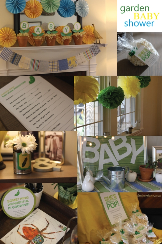 Au jardin a garden themed baby shower la vie urbane for Decoration theme jardin