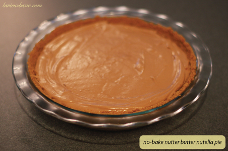 Nutter Butter Nutella Pie