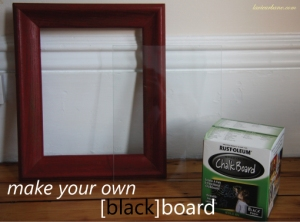 Make your own blackboard