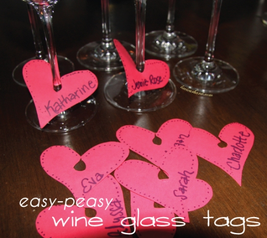 wine glass marker tags
